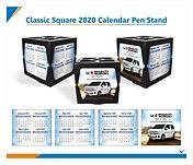 Classic Square 2020 Calendar Pen Stand.j