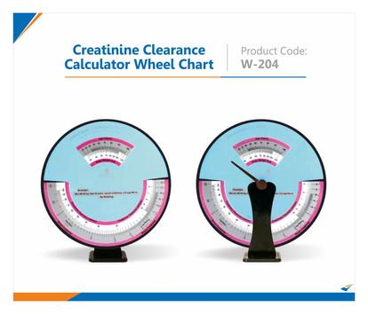 Creatinine Clearance Calculator Wheel Chart