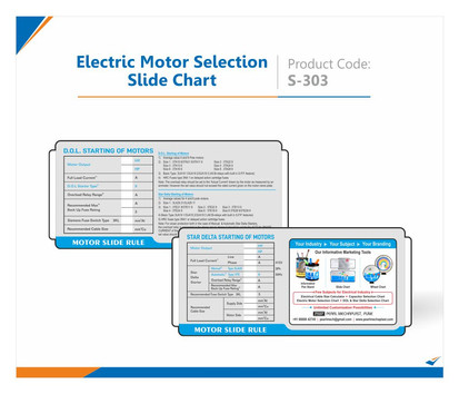 Electric Motor Selection Slide Chart