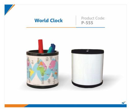 World Clock Pen Stand