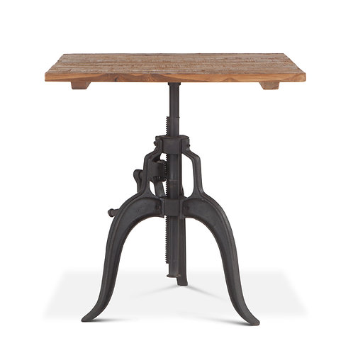Industrial Loft Adjustable Square Dining Table