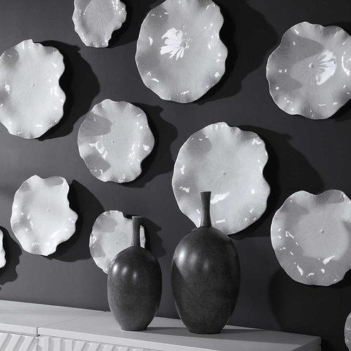 Abella Ceramic Wall Decor White