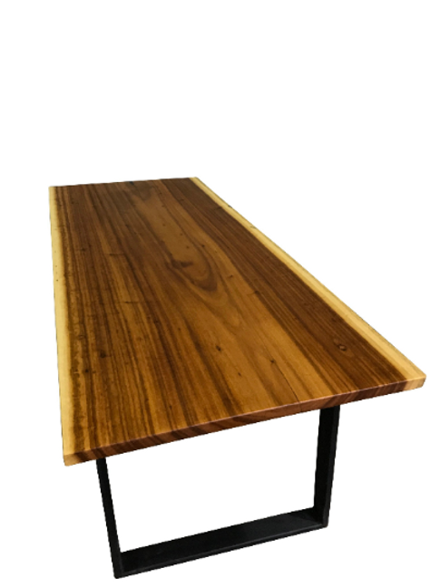 Live Edge Tiger Wood Dining Table