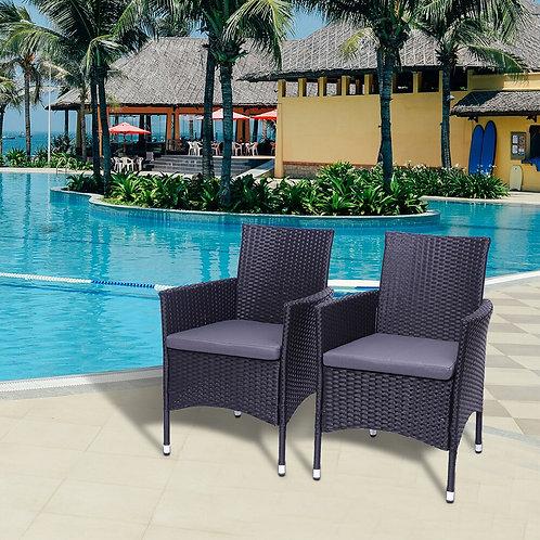 Patio Chair Set, Garden Patio Chairs, Single Backrest Chairs, Rattan Sofa