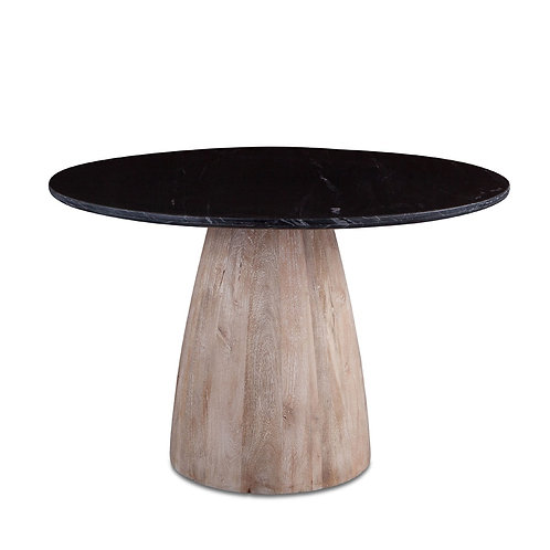 Round Dining Table Black Marble