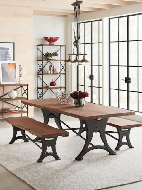 """Organic Forge 72"""" Dining Table"""