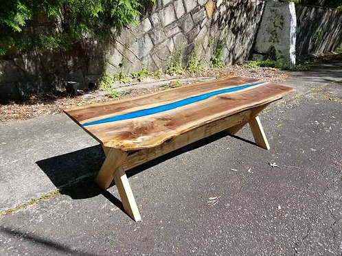 "Live Edge River Table 61"" long"
