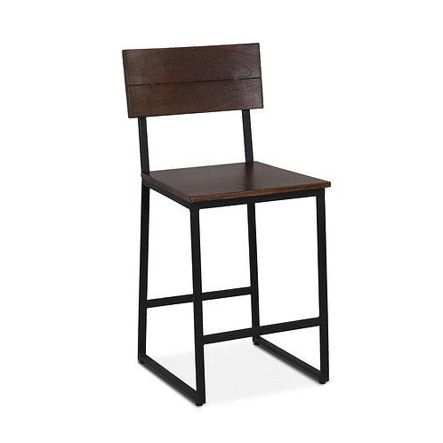 Walnut Counter Chair