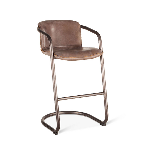 Portofino Leather Bar Chair