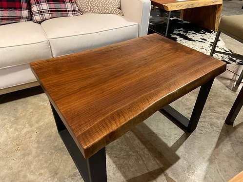 "Live Edge Walnut Coffee Table 34"" Long"