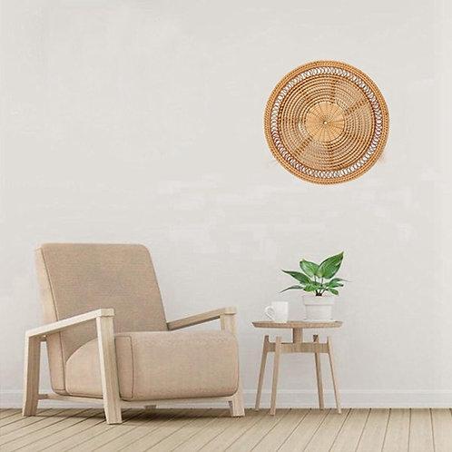 Woven Wall Basket, Natural Boho Home Decor, Decorative Rattan Decor, Rattan Wall