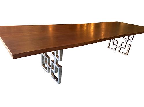 Sapele Live Edge Single Slab Dining Table