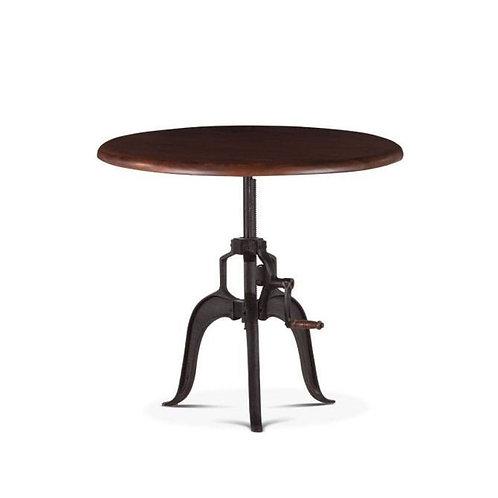 Adjustable Round Walnut Dining Table
