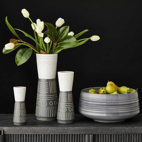 Hieroglyphic Vases set of 3 white