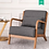 Thumbnail: Nordic Wooden Chair, Simplistic Wooden Chair, Accent Chair, Living Room Chair
