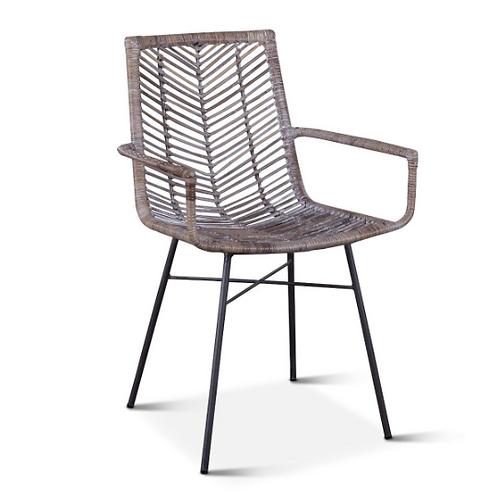 Kubu Dining Arm Chair Gray