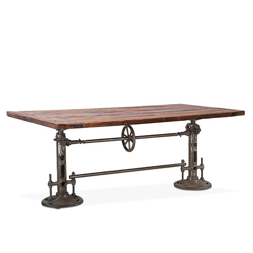 Industrial Adjustable Dining Table
