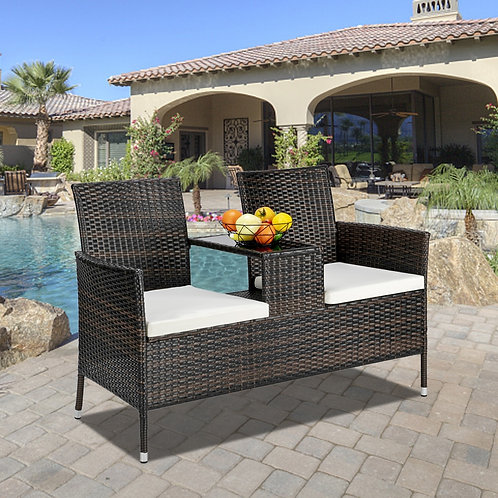 Patio Chair with Table, 2 Patio Chairs, Outdoor Furniture Seating and table