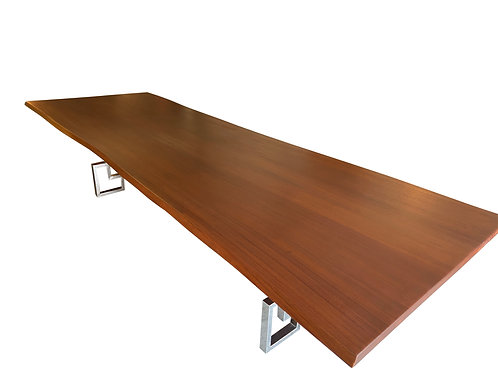 Sapele Live Edge Single Slab Dining Table
