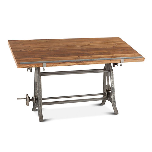 "Industrial Loft 62"" Adjustable Drafting Desk"