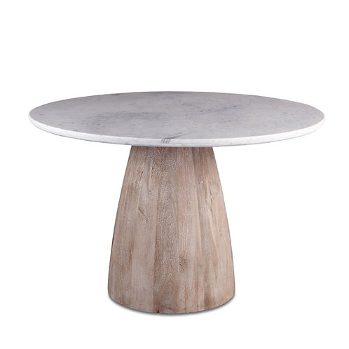 Palm Springs Round Dining Table White Marble