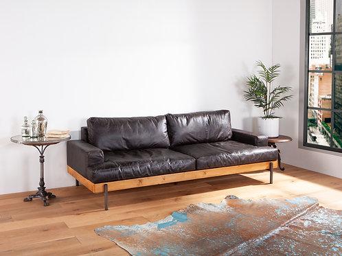 Portofino Leather Sofa Morocco Black