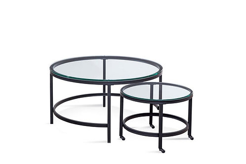 Round Black Nesting Coffee Tables