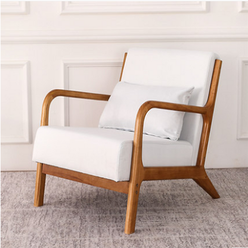 Nordic Wooden Chair, Simplistic Wooden Chair, Accent Chair, Living Room Chair