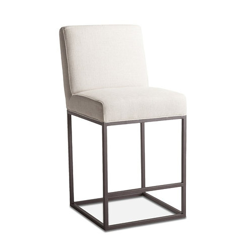 Off-White Linen Counter Chair