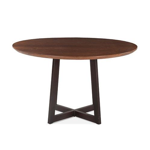 "Walnut Round Dining Table 48"""
