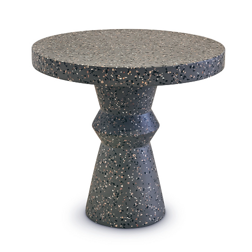 Speckled Charcoal Terrazzo End Table