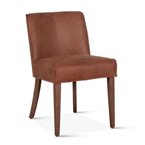 Buddy Side Chair Dark Tan Leather