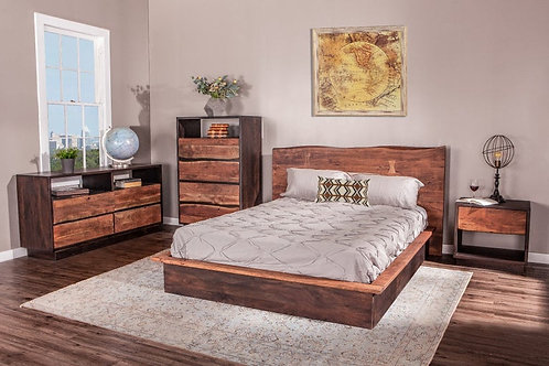 Live Edge King Bed