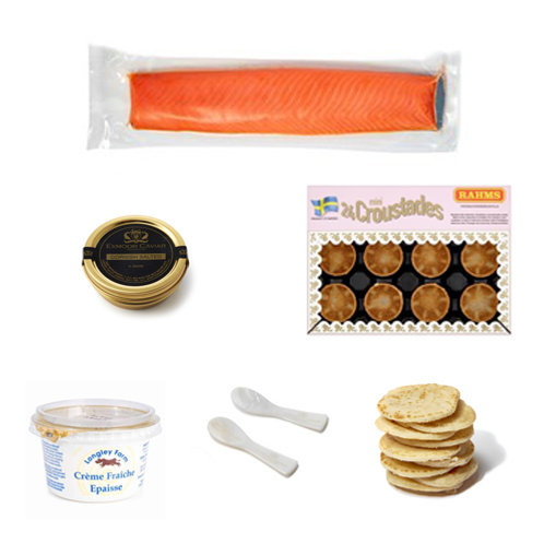 Exmoor Caviar Canapes at Home Kit