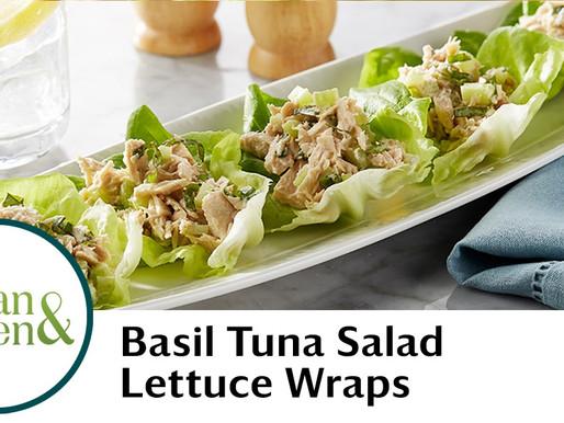 Healthy Basil Tuna Salad Lettuce Wraps