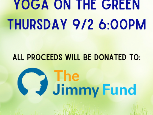 Yoga on the Green Sept. 2nd!