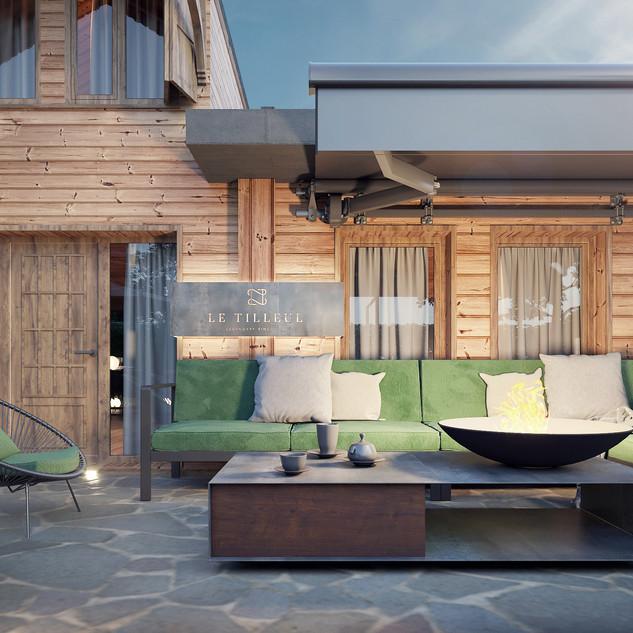 3D plan of terrasse