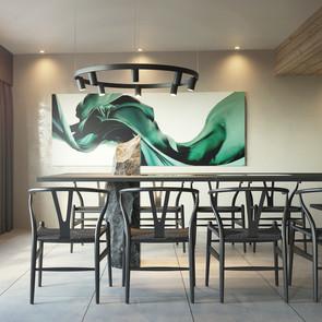 Chalet kitchen design and art