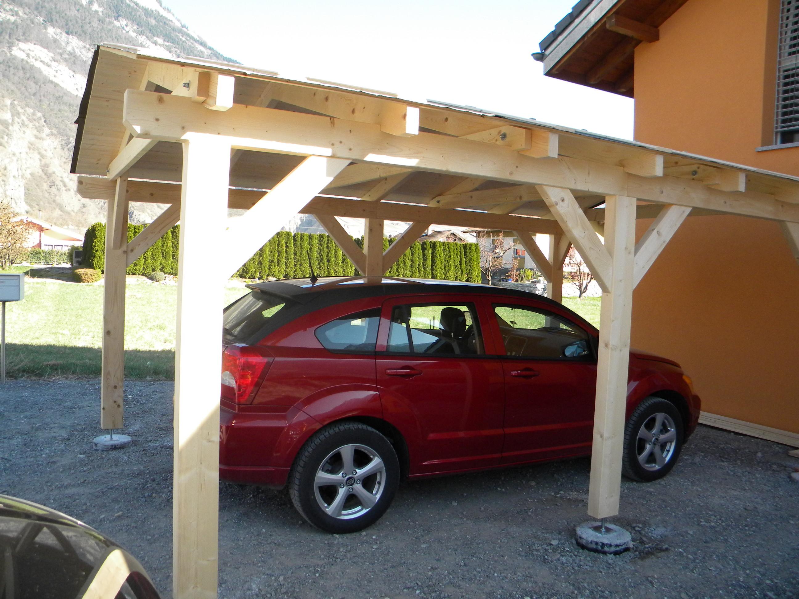 Abri voiture Riviera simple baumbege