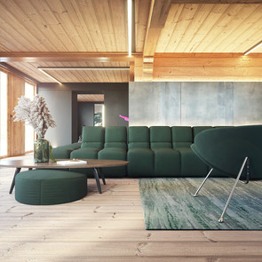 Chalet chill living room