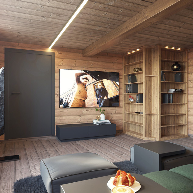 Chalet cinema room
