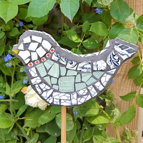 "Bird Cane Topper / Guard ""Beryl Star"""