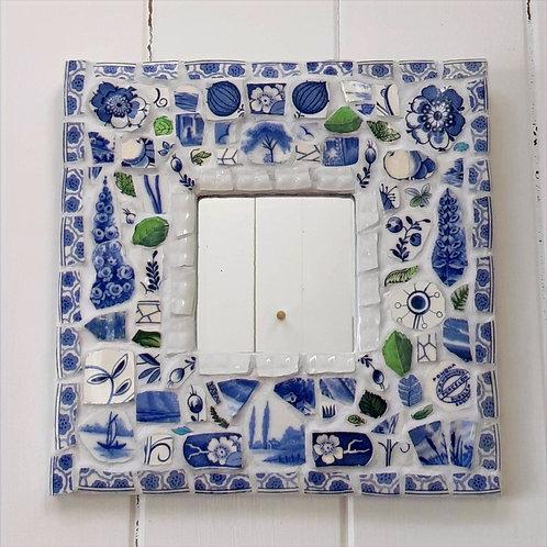 "Wall Mirror ""Delftinium"""