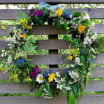 Christmas willow wreath rejuvinated into