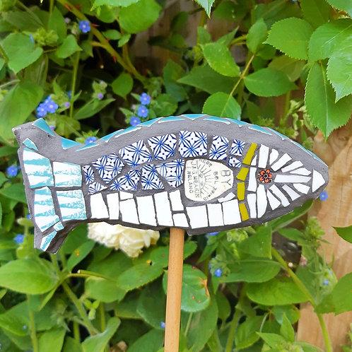 "Dish Fish Cane Topper / Guard ""Sol"""