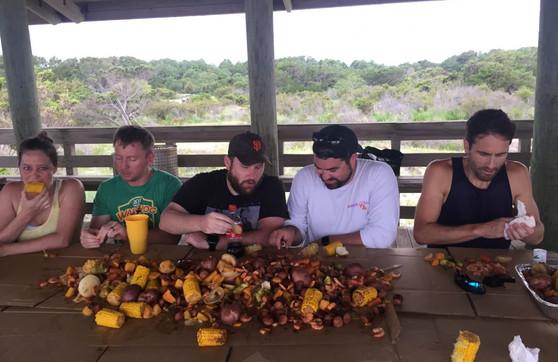 Low country boil! Sapelo Island, Georgia, SWiMS 2017