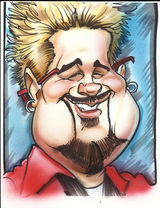 Caricature drawn from a photo