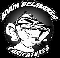 Adam Belmares Caricature logo
