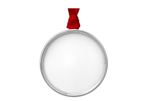 Customized Caricature/s on Round Silver Ornament