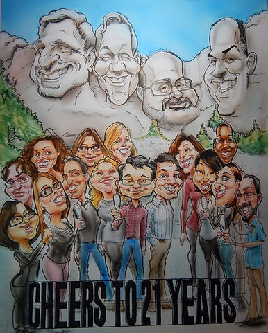 Caricature art, caricature drawn from a photo, retirement gift ideas, unique gift ideas for staff, creative ideas for staff appreciation, creative ideas for birthday gifts, unique gift ideas for coaches, unique gift ideas for teachers, fun gifts